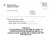 Poročanje o doseganju ciljev za ukrepe PRP 20...