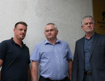 Od leve proti desni: Žiga Kršinar, Anton Medved, Roman Žveglič