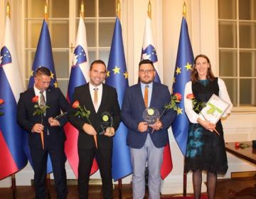 S podelitve priznanja IMK leta 2019 pri predsedniku Republike Slovenije