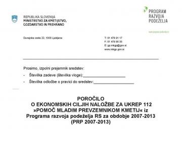 Poročanje o doseganju ciljev za ukrepe PRP 2017