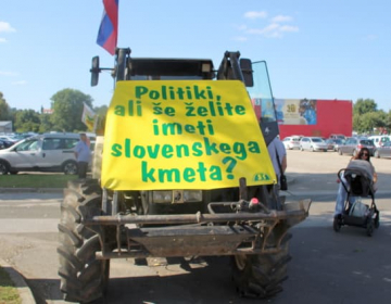 S protesti kmetje opozarjajo na negotovo prihodnos...