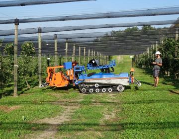 Strokovno srečanje o  robotizaciji in avtonomnosti v sadjarstvu