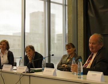 Od leve proti desni: Tatjana Vrbošek, Jože Ramovš, Andreja Krt Stopar, Ivan Janez Štular