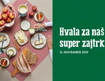 Tradicionalni slovenski zajtrk in dan slovenske hr...